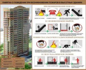 Особенности поведения при пожаре в многоэтажных зданиях