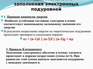 Основные принципы заполнения электронных оболочек атомов