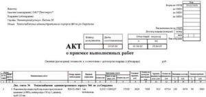 Акт выполненных работ хозспособом образец ф с 2