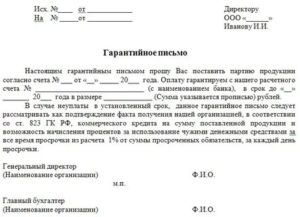 Письмо о несостоявшейся сделке образец