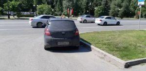Парковка на выезде с прилегающей территории