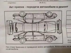 Акт приема передачи авто при трейд ин