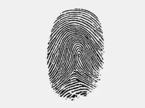 Отпечаток пальцев на бумаге