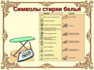 Правила стирки белья в детском саду таблица