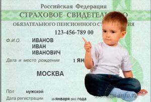 Как получить снилс на ребенка в тольятти