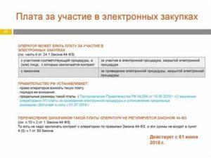 Плата за участие в электронном аукционе 44 фз