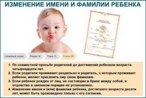 Можно ли переименовать новорожденного ребенка